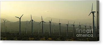 Palm Desert Wind Mills Canvas Print by Gregory Dyer