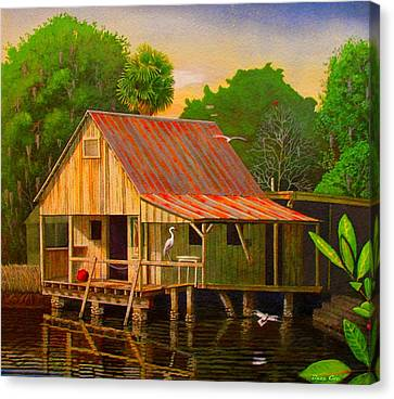 Palm Island Crab House  Canvas Print by Buzz Coe