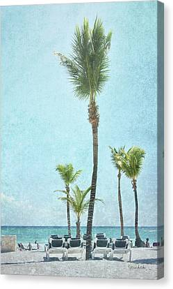 Palm Iv Canvas Print by Ramona Murdock