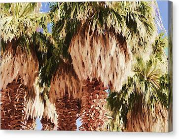 Canvas Print featuring the painting Palm by Muhie Kanawati