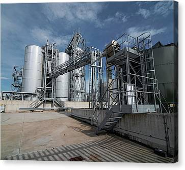 Factory Work Canvas Print - Palm Oil Refinery by Robert Brook