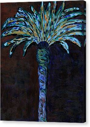 Palm On Purple  Canvas Print by Oscar Penalber