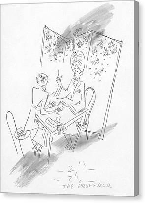 January Canvas Print - Palm Reading by Constantin Alajalov
