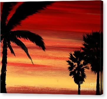 Palm Set Canvas Print by Ryan Burton