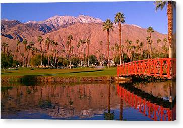 Canvas Print featuring the photograph Palm Springs by Chris Tarpening