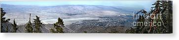 Palm Springs Panoramic View - 01 Canvas Print by Gregory Dyer