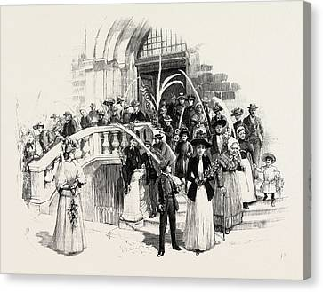 Palm Sunday At Grasse France Canvas Print by French School