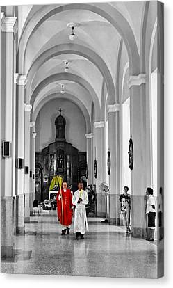 Palm Sunday In El Cobre Canvas Print by Dawn Currie