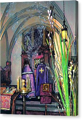 Palm Sunday Liturgy Canvas Print by Sarah Loft