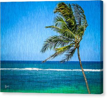 Palm Tree Swaying Canvas Print