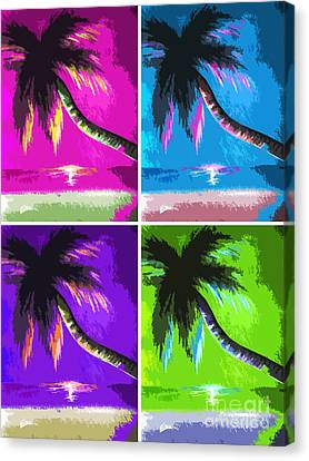 Palm Trees By Shawna Erback Canvas Print by Shawna Erback