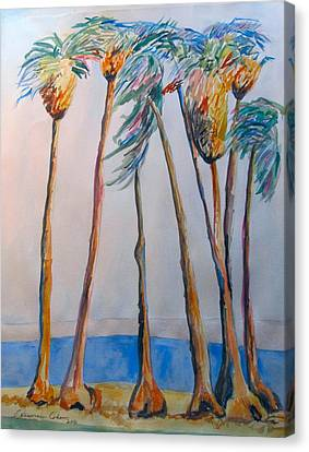Palm Trees Canvas Print by Esther Newman-Cohen