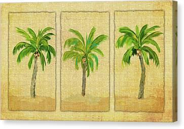 Palm Trio Canvas Print by Julie Derice