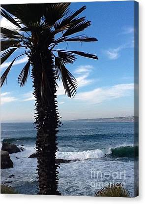 Canvas Print featuring the photograph Palm Waves by Susan Garren