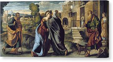 Palma, Jacopo 1480-1528. The Visitation Canvas Print by Everett