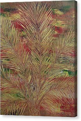 Canvas Print featuring the painting Palme by Nico Bielow