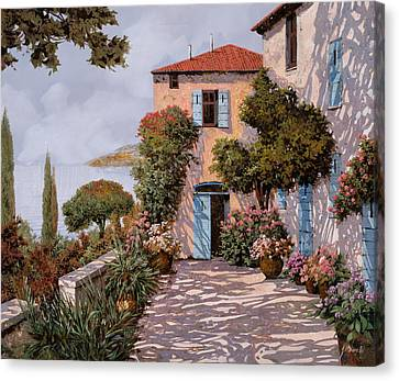 Palmette Viola Canvas Print by Guido Borelli