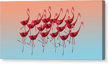 Palmingos Canvas Print by Stephanie Grant
