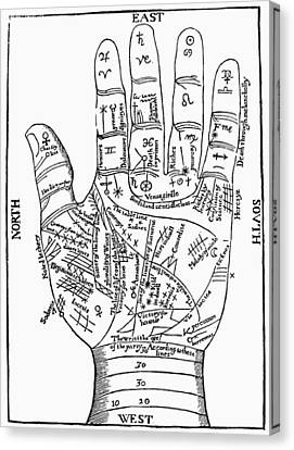 Palmistry, 1671 Canvas Print by Granger