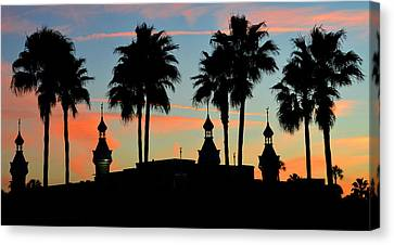 Palms And Minarets Canvas Print
