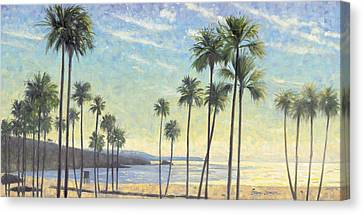 Corona Canvas Print - Palms Bursting In Air by Steve Simon