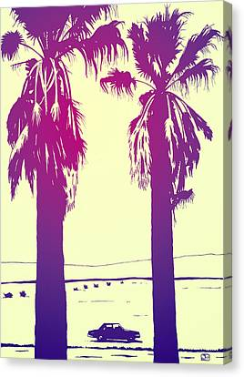 Palm Springs Canvas Print - Palms by Giuseppe Cristiano