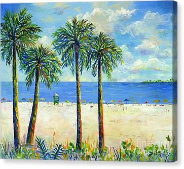 Palms On Siesta Key Beach Canvas Print