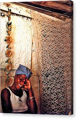 Santeria Canvas Print - Palo Member With Cigar by Larry Sides
