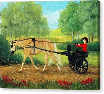 Pleasure Driving Canvas Print - Palomino Horse Pleasure Driving by Olde Time  Mercantile