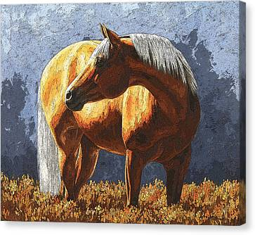 Palomino Horse - Variation Canvas Print by Crista Forest