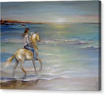 Palomino Sunrise Canvas Print