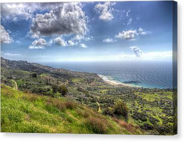 Palos Verdes Peninsula Hdr Canvas Print by Heidi Smith
