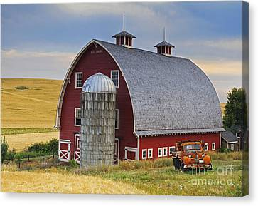 Palouse Barn - Est. 1919 Canvas Print by Mark Kiver