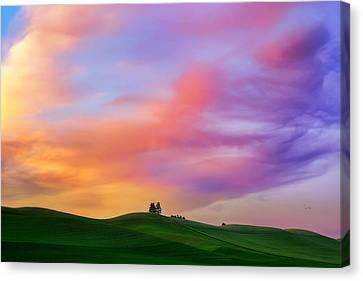 Palouse Cirrus Rainbow Canvas Print by Ryan Manuel