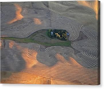 Contour Farming Canvas Print - Palouse Contours IIi by Latah Trail Foundation