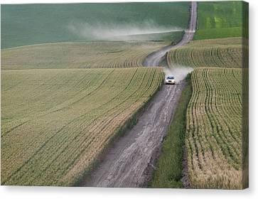 Contour Farming Canvas Print - Palouse Dust Trail by Latah Trail Foundation