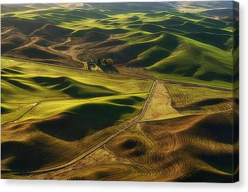 Palouse Homestead Canvas Print by Ryan Manuel