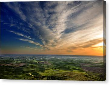 Palouse Sunset Canvas Print by Mary Jo Allen