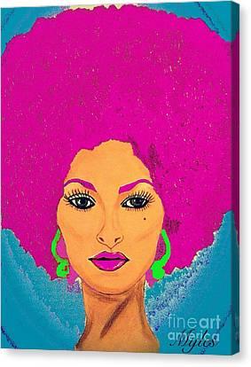 Pam Grier Bold Diva C1979 Pop Art Canvas Print by Saundra Myles