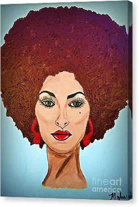 Pam Grier C1970 The Original Diva Canvas Print by Saundra Myles