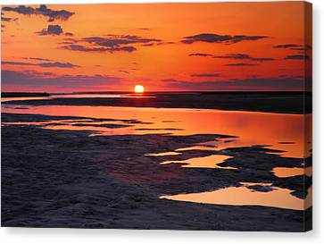Pamlico Sunset Canvas Print by Steven Ainsworth