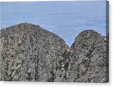 Pamola And Chimney Peaks Canvas Print by Lori Deiter