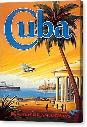 Pan Am Cuba  Canvas Print