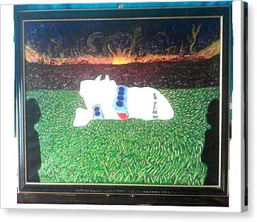 Airoplane Canvas Print - Pan Am Flight 103 Lockerbie by MERLIN Vernon