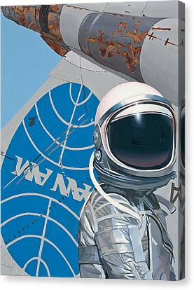 Canvas Print featuring the painting Pan Am by Scott Listfield