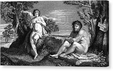 Pan And Apollo Canvas Print