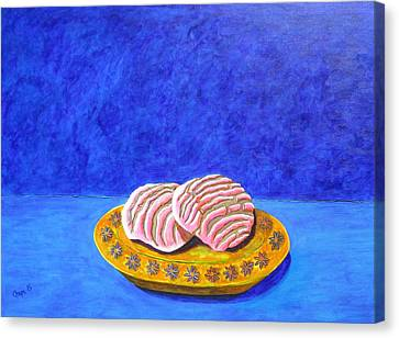Pan Dulce Azul Canvas Print by Manny Chapa