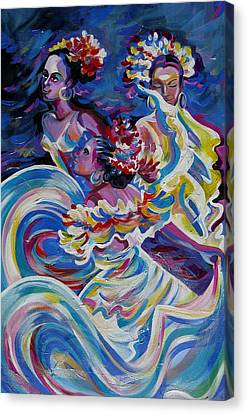 Panama Carnival. Folk Dancers Canvas Print
