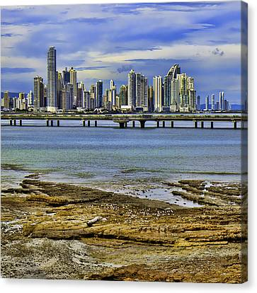 Canvas Print featuring the photograph Panama City by Rob Tullis
