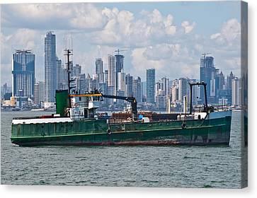 Panama Cityscape Canvas Print by Marek Poplawski